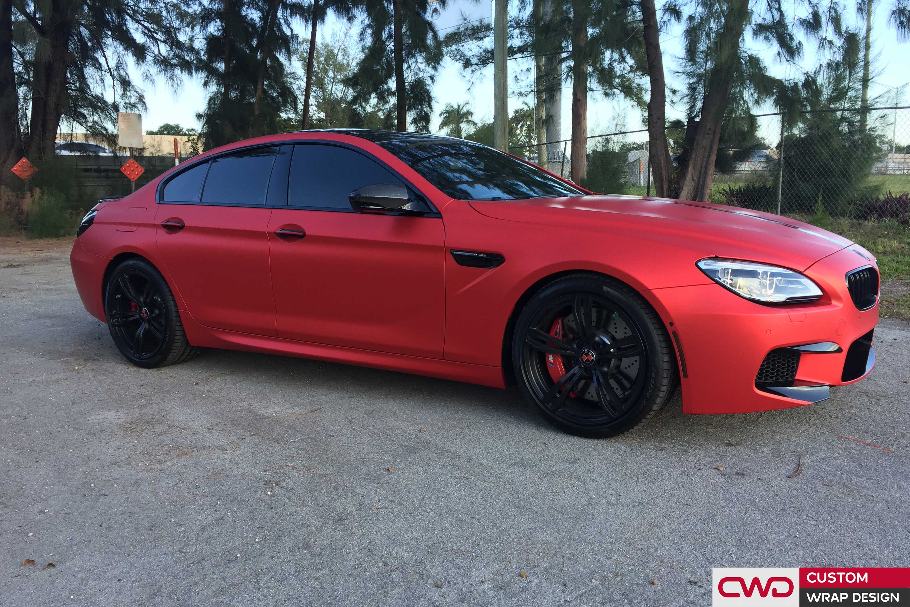 Matte Red Chrome Bmw M6 Cwdwrap
