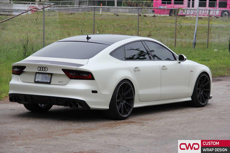 Audi A7 Satin Pearl White Wrap Cwdwrap